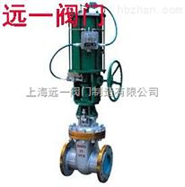 Z641H-16C/Z641H-25,40手动转换气动闸阀