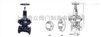 气动衬胶、衬氟塑料隔膜阀(常开式)