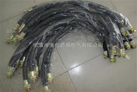 BNG-20×700防爆挠性连接管(不锈钢、橡胶、钢丝布套)
