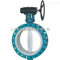 D341F4-10 型蜗轮传动衬氟蝶阀