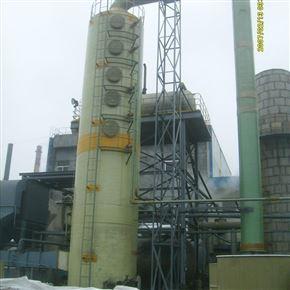 焦化厂80吨立式玻璃钢除尘脱硫塔