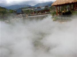 人工湖冷雾