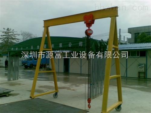 龙门架主梁与支腿之间通过法兰板用高强螺栓连接,可快速拆卸安装,用