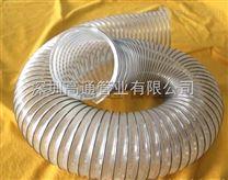 耐热PU钢丝通风软管,耐高温排气钢丝管-排旱烟