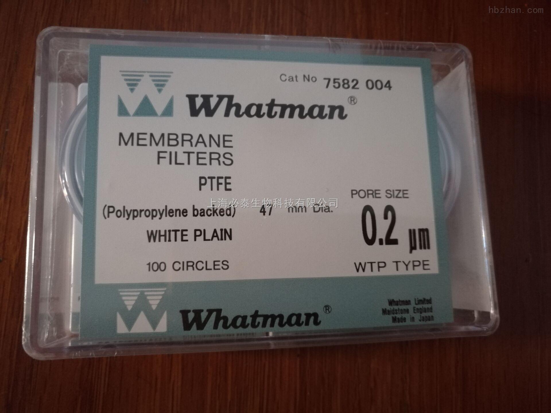 whatman聚四氟乙烯PTFE滤膜7582-004