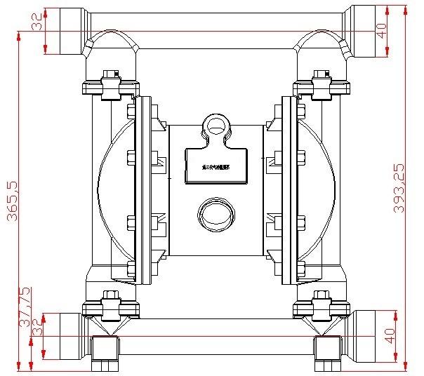 电动隔膜泵 气动隔膜泵 隔膜泵-qby3-40第三代气动泵