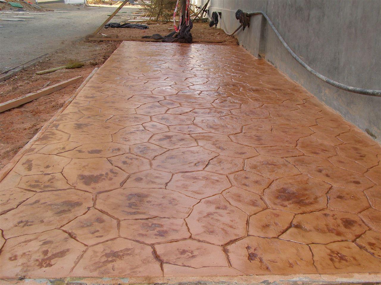 混凝土压模地坪/仿木工艺木纹地坪/水泥压花地坪材料