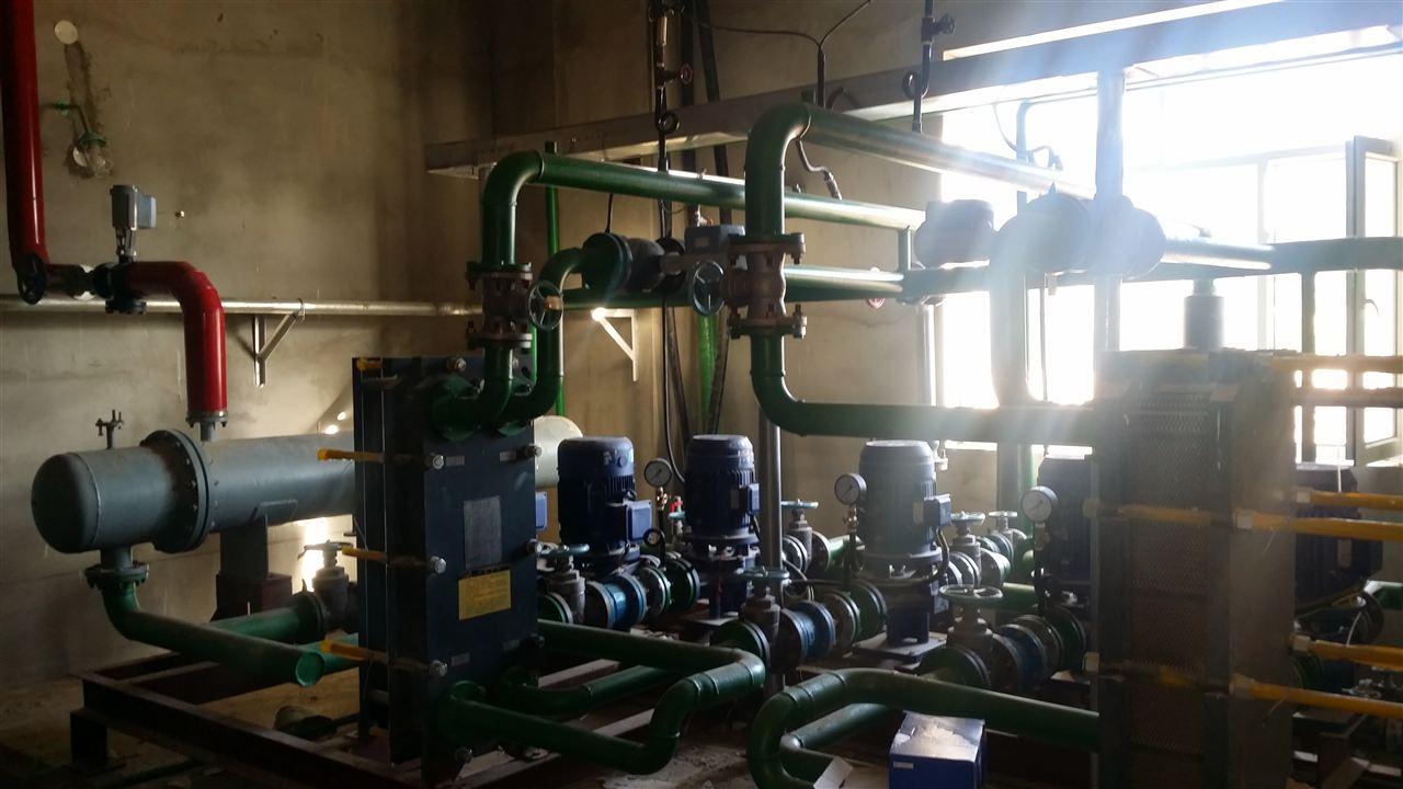 西门子电动调节阀在蒸汽换热站系统的应用图片